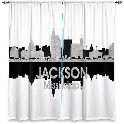 East Urban Home City IV Jackson Mississippi Angelina Vicks Room Darkening Curtain Panels Size 40
