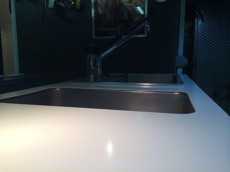 plan de travail en acier maill couleur fleur de sel finition mat kitchen cuisine. Black Bedroom Furniture Sets. Home Design Ideas