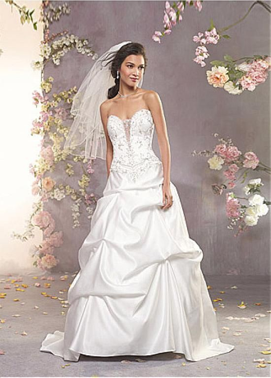 ELEGANT SATIN A-LINE SWEETHEART NECKLINE WEDDING DRESS WITH BEADED EMBROIDERIES FORMAL PROM EVENING PARTY GOWN