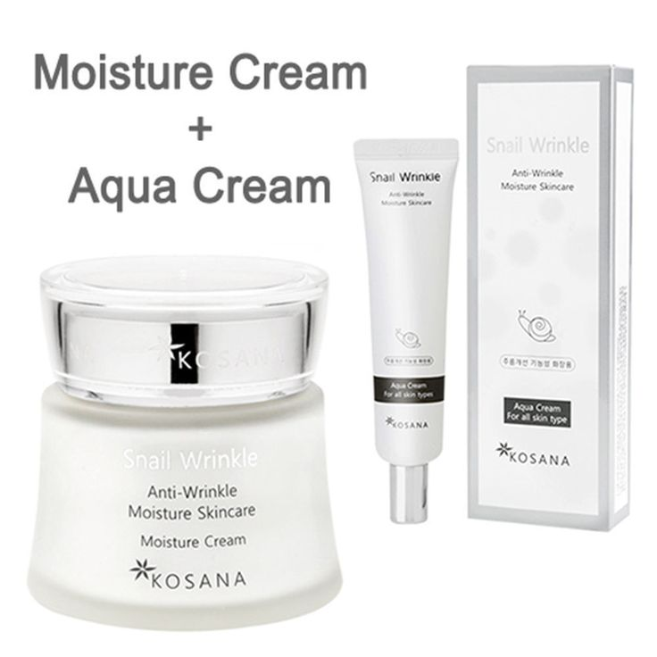 KOREANA Kosana Snail Anti Wrinkle Moisture Cream 50ml + Snail Aqua cream 30ml  #Koreana