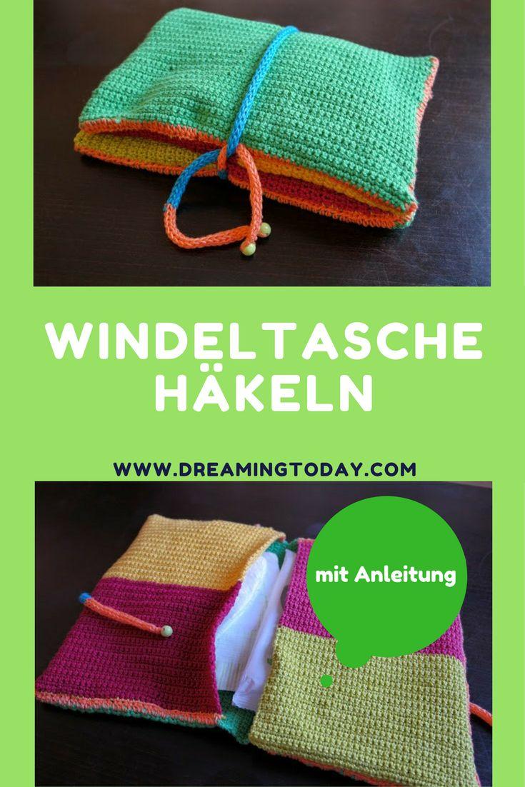 DIY zum Häkeln für eine Windeltasche. Falls du mal keine große Wickeltasche mitschleppen willst.