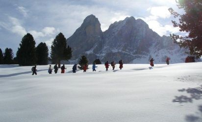 Walking with snow-shoes through our enchanting winter landscape is extremely romantic