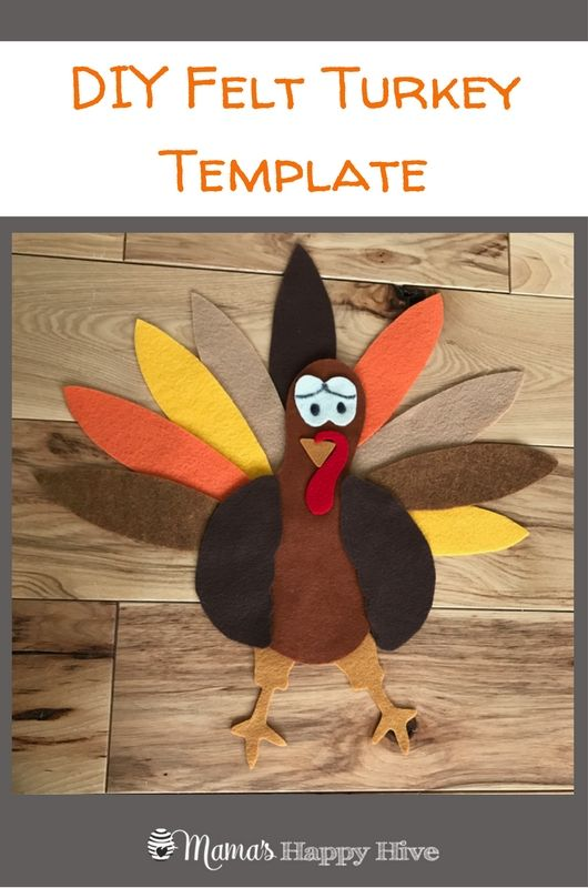 This DIY Felt Turkey Parts and Life Cycle includes a free printable for creating your own felt turkey. Also, included is Montessori 3-part cards. #montessori #feltcrafts #handsonlearning www.mamashappyhive.com