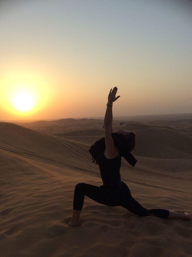 Sky is the limit..  #warrior #dubai #desert