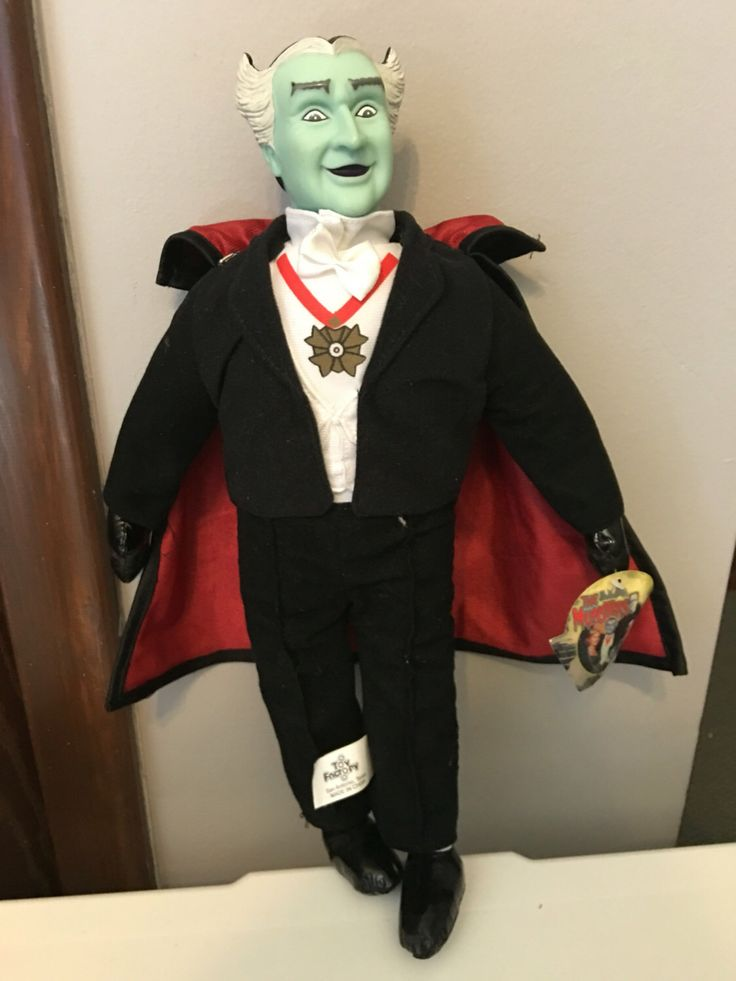 """THE MUNSTERS Grandpa 15"""" Plush Doll w/tags by SnLVintage on Etsy https://www.etsy.com/listing/464628232/the-munsters-grandpa-15-plush-doll-wtags"""