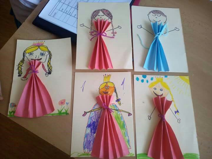 Simple princess paper craft for kids.