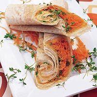 Recept - Wrap met wortel en kikkererwtenpuree - Allerhande
