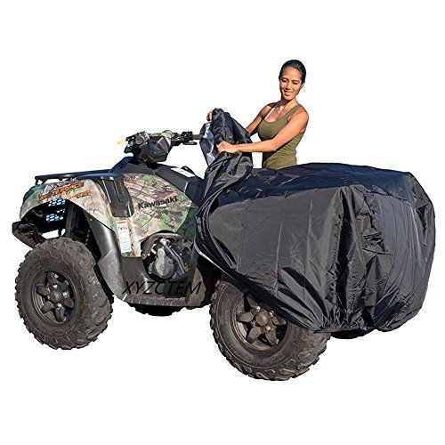 XYZCTEM Waterproof ATV Cover, Heavy Duty Black Protects 4 Wheeler From Snow Rain or Sun, XXXL Large Universal Size Fits Most Quads, Elastic Bottom Can Be Trailerable At High Speeds. For product info go to:  https://www.caraccessoriesonlinemarket.com/xyzctem-waterproof-atv-cover-heavy-duty-black-protects-4-wheeler-from-snow-rain-or-sun-xxxl-large-universal-size-fits-most-quads-elastic-bottom-can-be-trailerable-at-high-speeds/