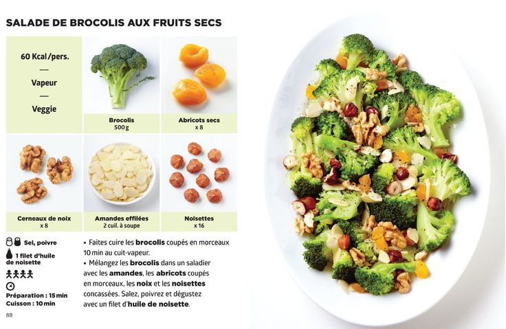 Salade de brocolis aux fruits secs