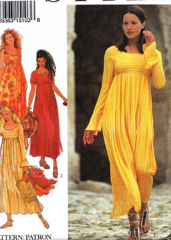 Style Boho Dress Pattern 2404 Uncut Hippie Style Style
