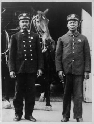 Lieutenant George Bright and Edward Bowan of Engine Company No. 30 :: Dunbar Economic Development Corporation Collection, 1880-1986
