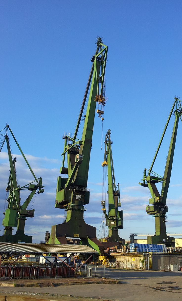 cranes in the Gdansk Shipyard