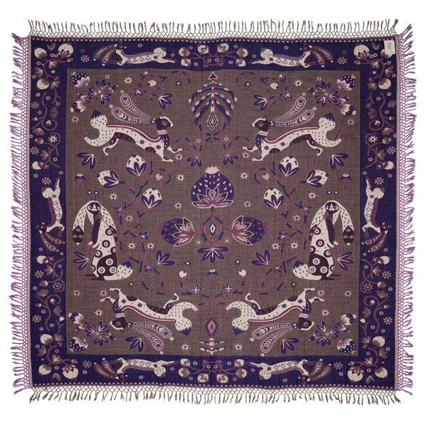 Rabbit blanket, purple/ grey. Rabbit peitto, violetti.