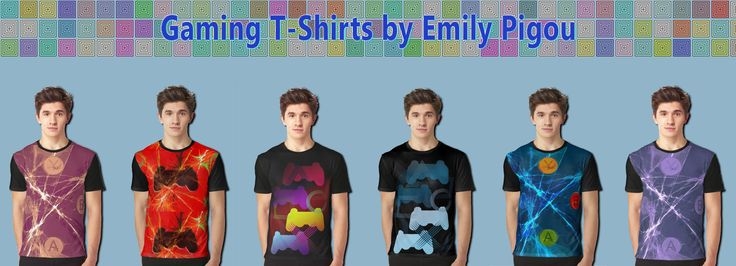 Gaming T-Shirts by Emily Pigou #gaming #tshirt #gamingtshirt #graphictshirt #fashion #geek #nerd #giftsforhim #buygamingtshirt #buytshirt #ps3 #xbox #playstation #cooltshirt #menfashion
