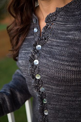 By special request here is presented the adult version of the popular children's Cascade cardigan.