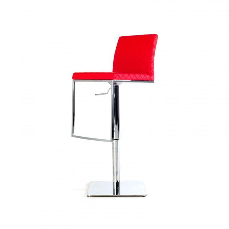 Modrest Folsum Modern Red Bar Stool - Bar - Lounge Seating