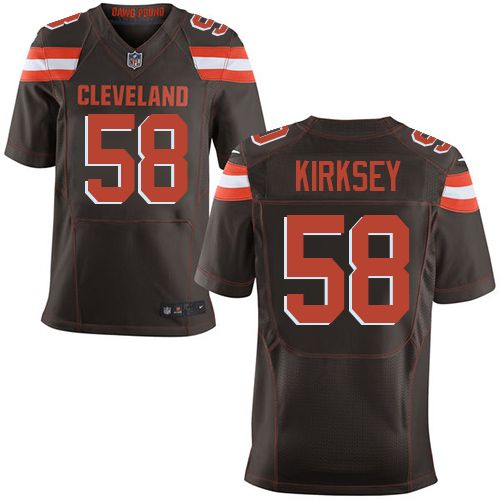 Nike Browns  58 Christian Kirksey Brown Team Color Men s Stitched NFL New  Elite Jersey cfe208b9f