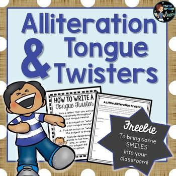 This tongue twister freebie is a simple, yet engaging way to bring humor into your classroom! Included is everything you need to tie together alliteration and tongue twisters for your young writers! This activity is perfect to celebrate April Fools' Day, or any day you want to get your students laughing!