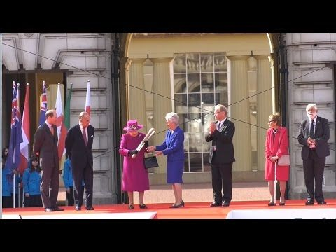 The Queen's Baton Relay For The XXI Commonwealth Games Launch