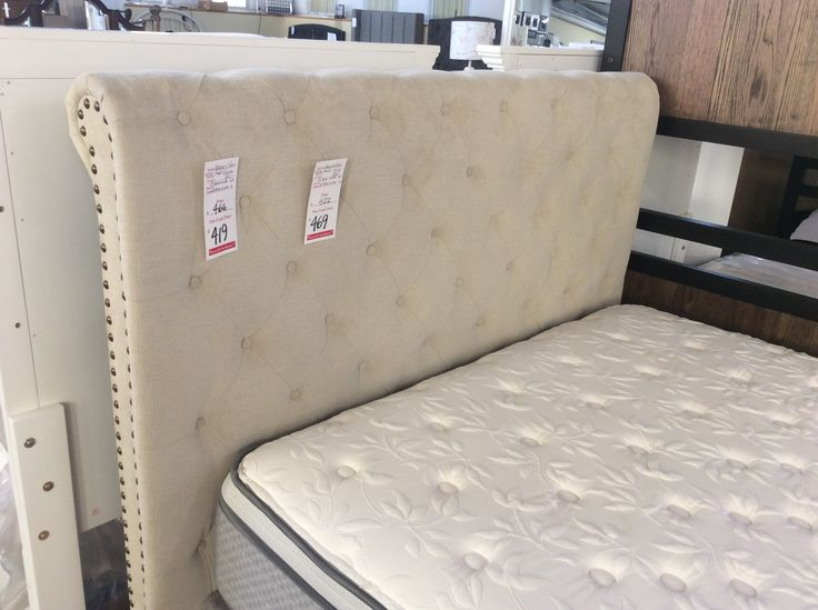 Attention New Merchandise On The Show Floor An Affordable Linen Colored Upholstered Bed By Furniture Companiesupholstered Bedsbedroom