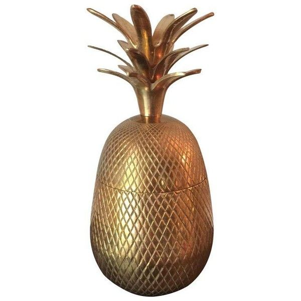Brass Pineapple Ice Bucket ($189) ❤ liked on Polyvore featuring home, kitchen & dining, bar tools, decorative objects, brass champagne bucket, brass ice bucket, brass pineapple ice bucket, ice-buckets and pineapple ice bucket