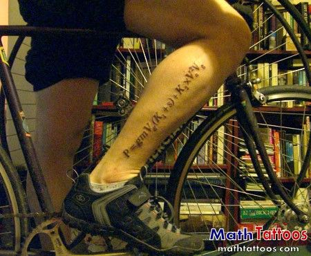 Power equation - Not flower power, tattoo power.