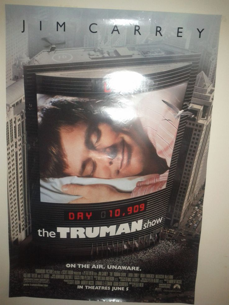 The Truman Show Poster $21.00 (Plus Shipping and Handling)