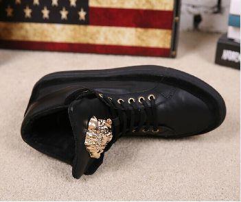 High Tops Fashion Casual Male Footwear Gold Medusa $100.00USD