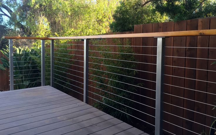 Stainless steel deck railing posts for cable railings. Type 316 stainless steel…
