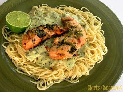 Creamy Lime Basil Chicken and Pasta (lactose-free options)