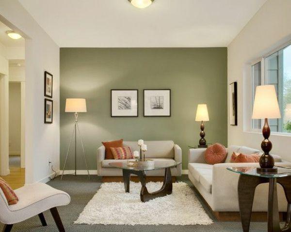 Die besten 25+ Wandfarbe wohnzimmer Ideen auf Pinterest - ausenfarbe gegen innenfarbe