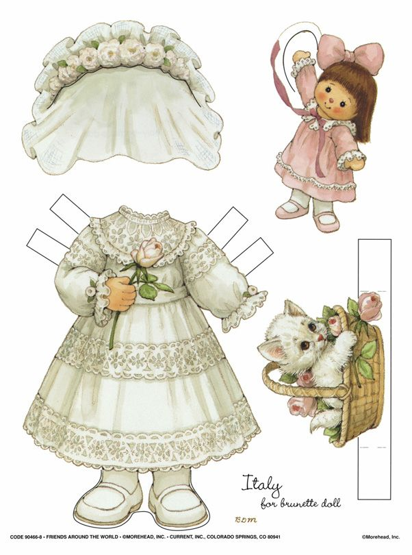 .: Friends, Dolls Clothing, Blondes, Vintage Paper Dolls, Of Papell, Around The World, Flower Girls, Paper Toys, Antiques