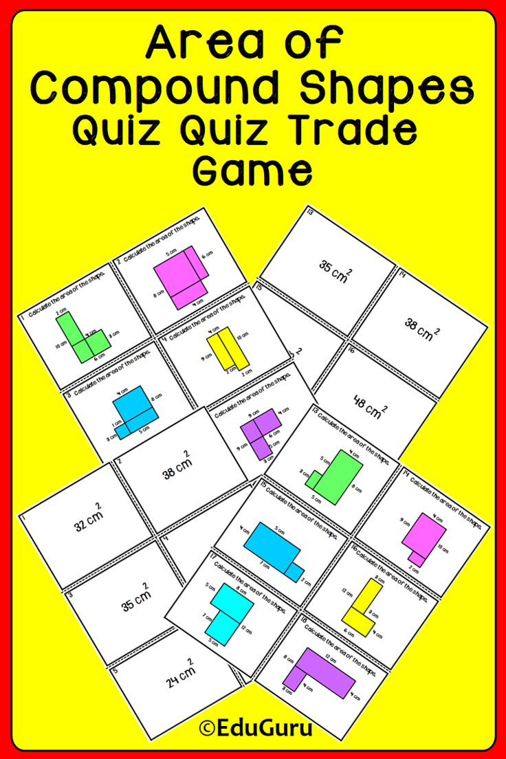 An engaging and fun activity to practice and better understand how to find the area of compound shapes. ENJOY this cooperative learning WINNER with your students!  -I appreciate your feedback!