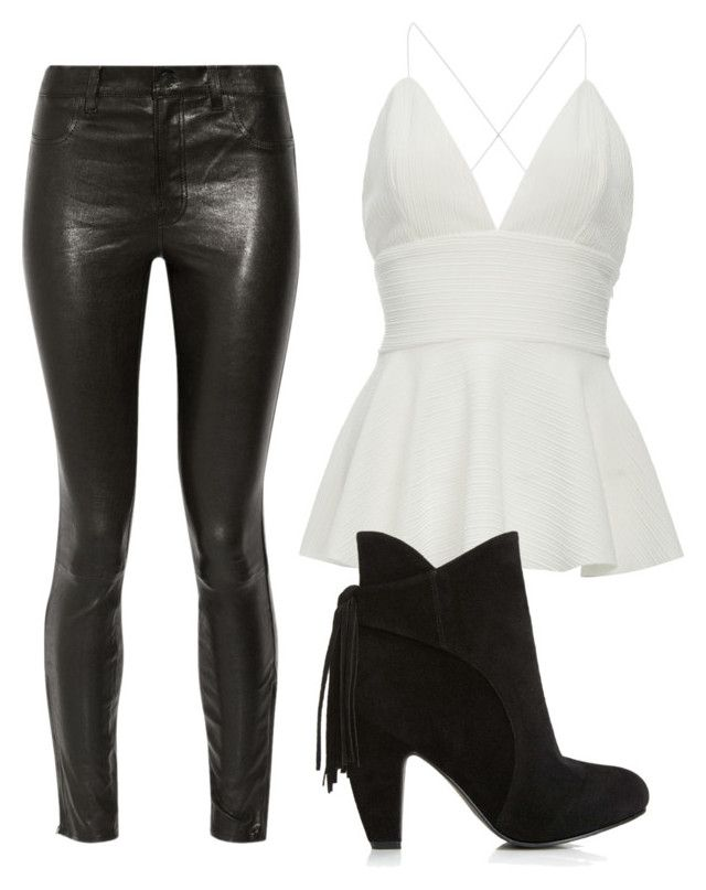 """""""Simple black & white"""" by tovenilsen on Polyvore featuring J Brand"""