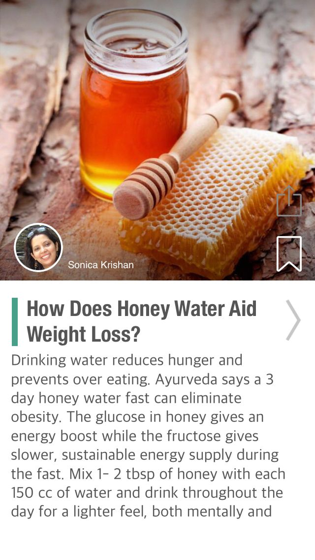 How Does Honey Water Aid Weight Loss? - via @CureJoy
