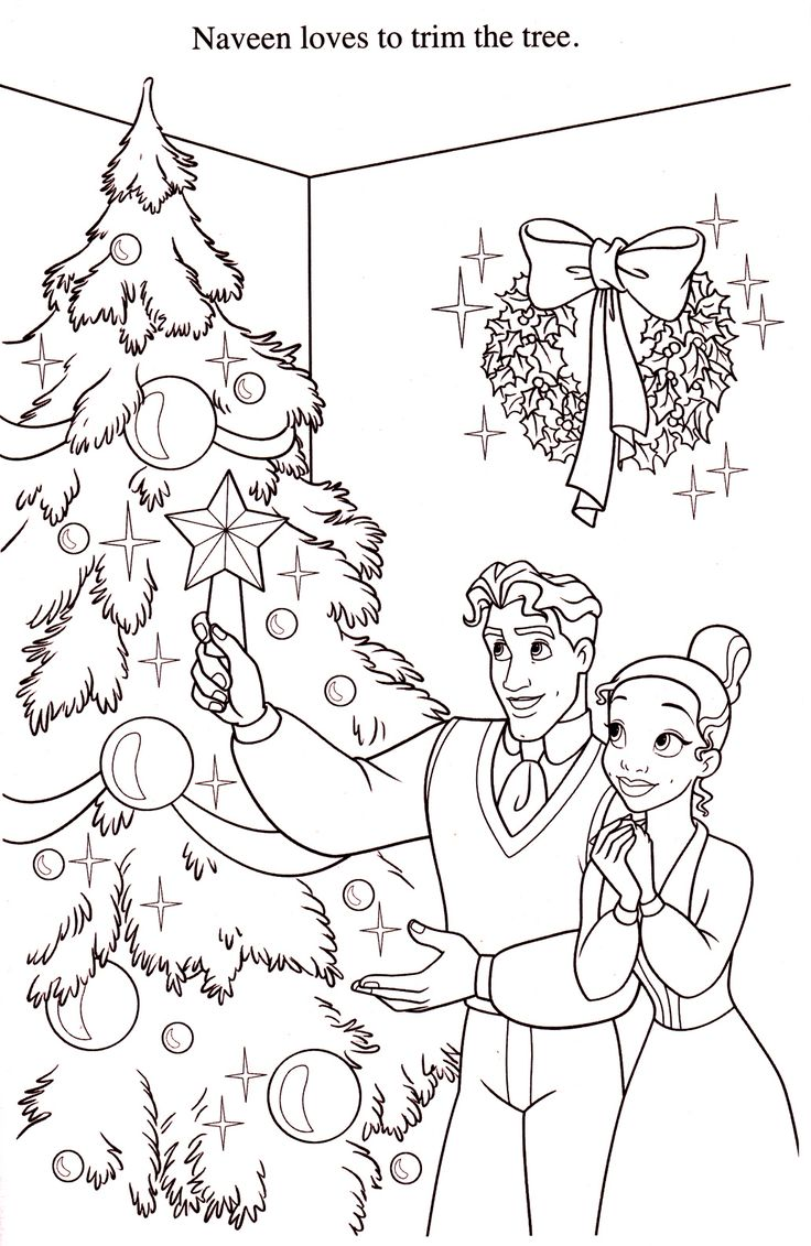 christmas coloring pages princess-#26