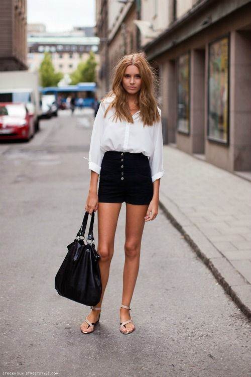Top 25  best Black shorts outfit ideas on Pinterest | Shorts ...
