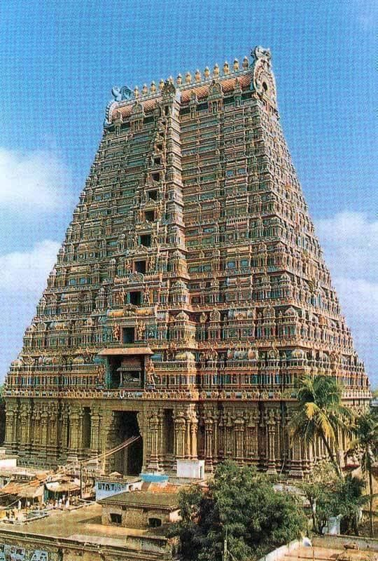 Rajagopuram,Srirangam Temple,Tamilnadu,India