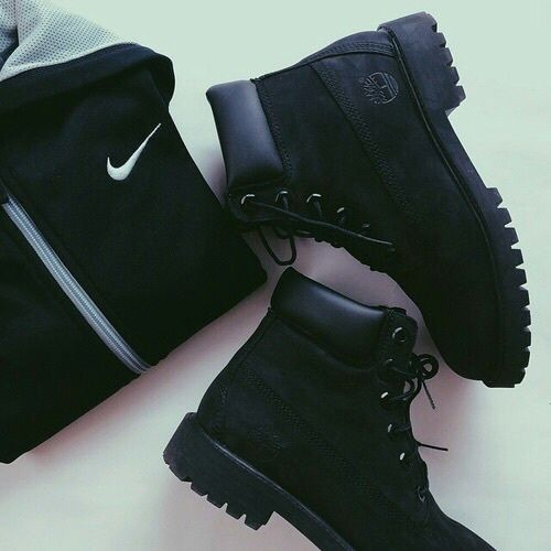 adidas, black, fashion, nike, outfit, timberland, winter