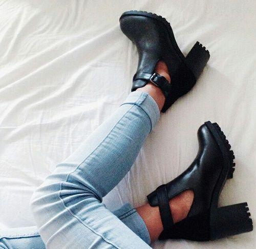 grafika shoes, fashion, and black