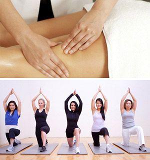 Благоприятен контрастный душ, антицеллюлитный массаж и различные обертывания.