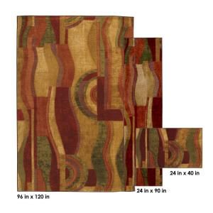 3 Piece Rug Set 335458 At Dining Room RugsLiving