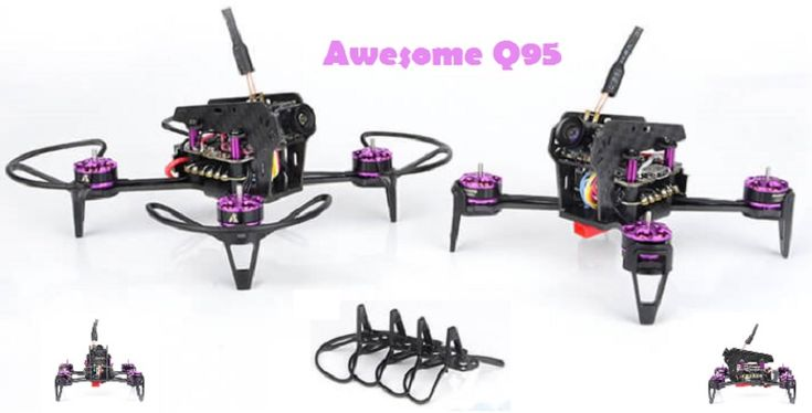 Awesome Q95 is a nice brushless FPV quadcopter. Due the included propeller protectors it is perfect for newbies. Awesome Q95 is based on the F3 Omnibus FC.