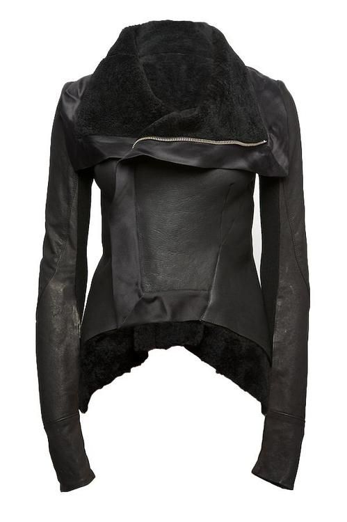 shearling peplum jacket  2009 rick owens
