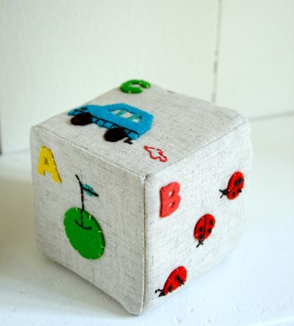 So sweet - I have some baby blocks sewing patterns on my baby crafts page - http://www.allcrafts.net/baby.htm to help make something like this.