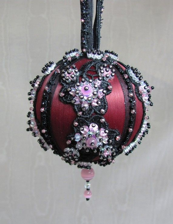 Beaded Christmas Ornament Kit  Plum Blossom by Glimmertree on Etsy, $27.25