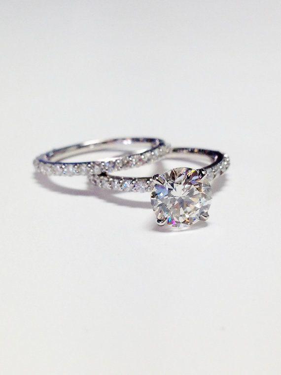 1.00CT Diamond Round Brilliant Solitare Engagement von FineJewlers #DazzlingDiam…