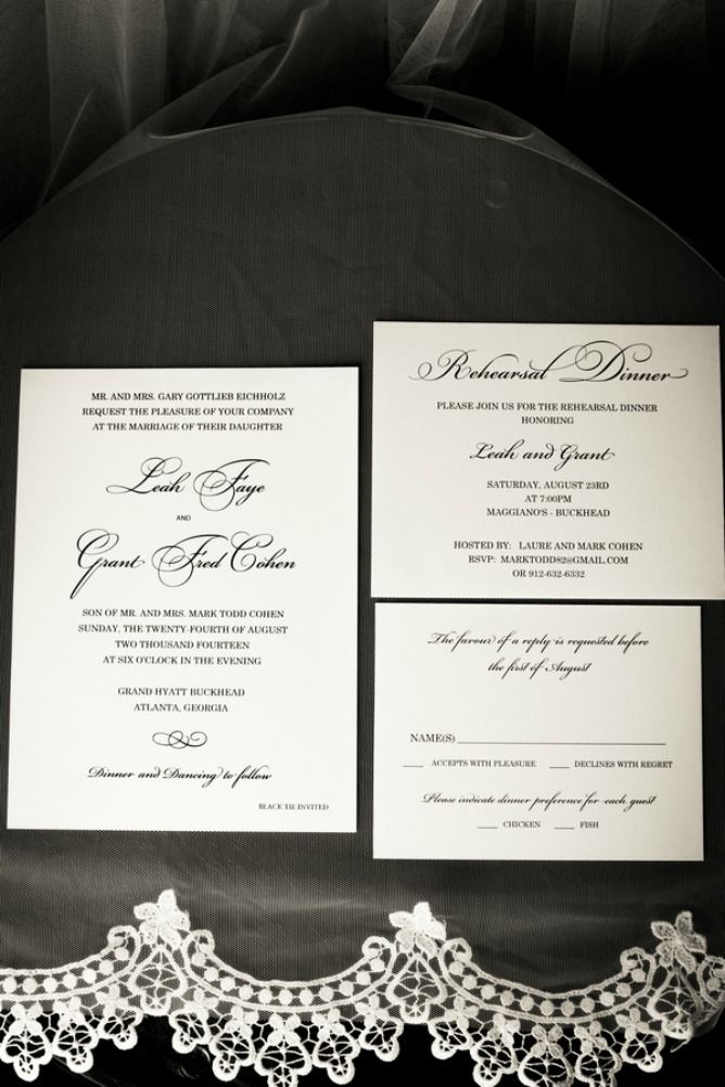 Elegant Atlanta Hotel. Jewish Wedding InvitationsWedding ...