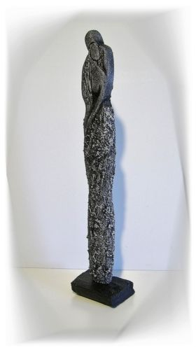 Kunstgalerie-Winkler-Moderne-Skulptur-Paar-Deco-Figur-Abstrakt-Menschen-Unikat