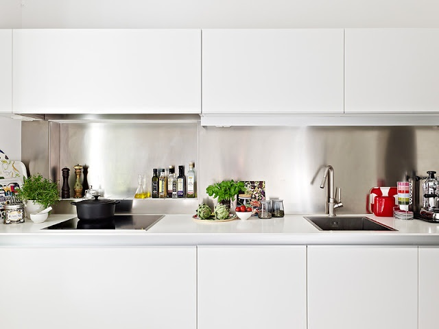APARTMENT DECORATING   1000 SQUARE FEET IN SWEDEN. Kitchen WhiteWhite ...